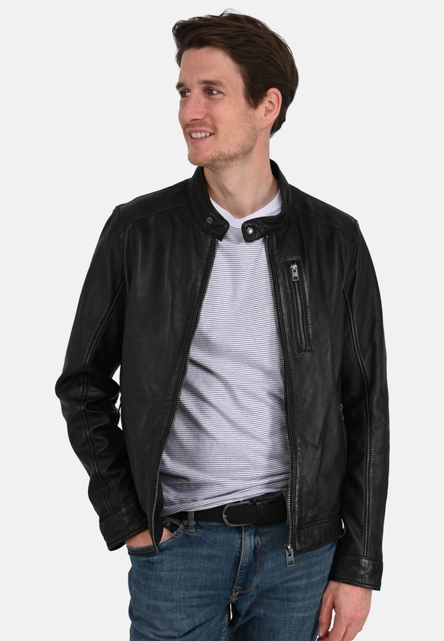 AGENT - Leather jacket - black