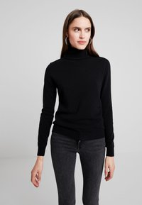 Benetton - TURTLE NECK - Jumper - black - 0