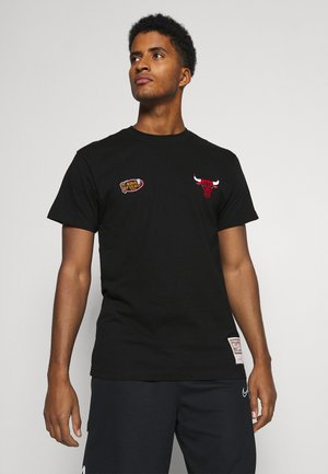NBA CHICAGO BULLS EMBROIDERED LOGO TEE - Article de supporter - black