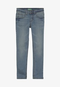 Benetton - TROUSERS - Jeansy Slim Fit - light blue - 3