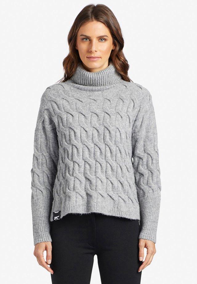 FERGY - Trui - mottled light gray
