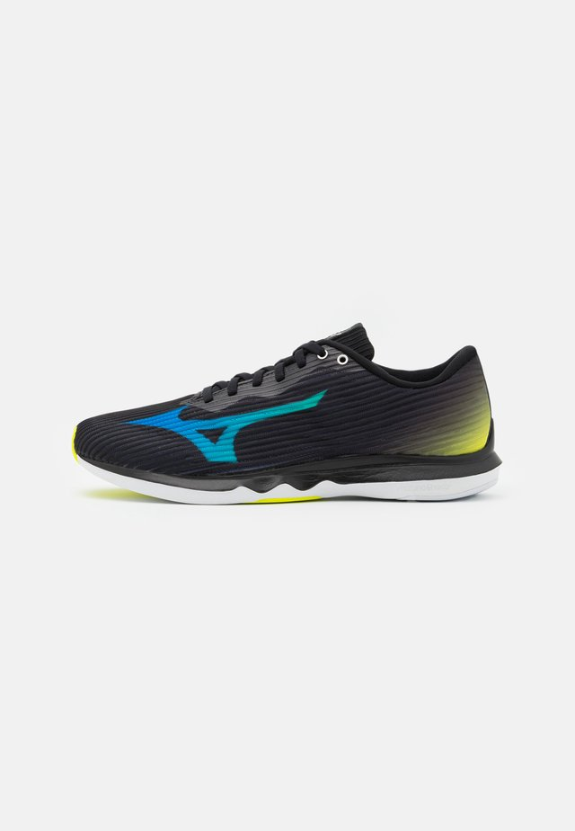 WAVE SHADOW 4 - Hardloopschoenen competitie - black/dark blue/safety yellow