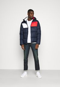 Tommy Jeans - COLORBLOCK PADDED JACKET - Winter jacket - twilight navy - 1