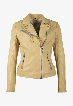Leren jas - pastel yellow