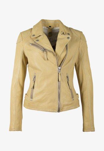 Leather jacket - pastel yellow