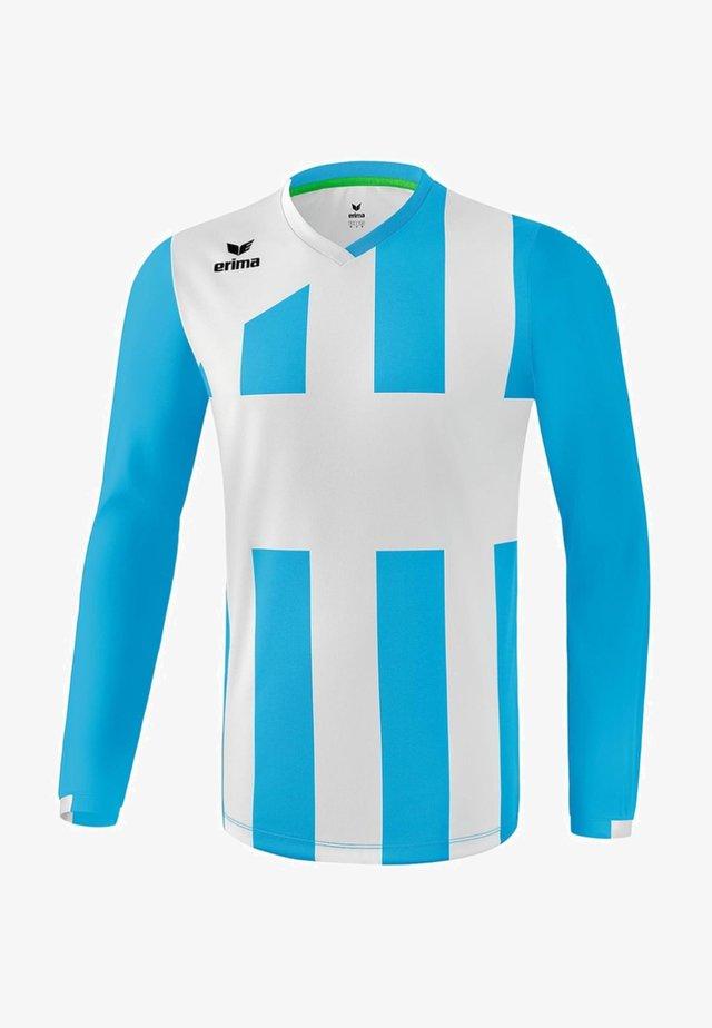 SIENA - Sports shirt - curacao / weiß