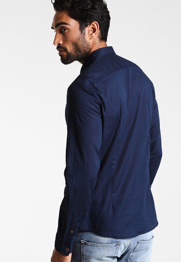 TOM TAILOR DENIM Koszula - black iris blue/granatowy Odzież Męska RSDF