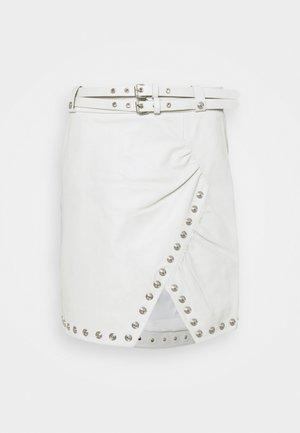 MADITA SKIRT - Leather skirt - star white