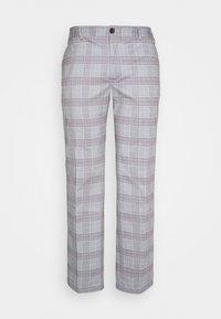 JJIMARCO JJPHIL CHECK - Trousers - light grey melange