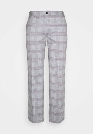 JJIMARCO JJPHIL CHECK - Trousers - light grey melange