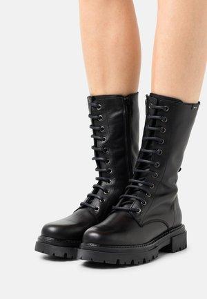 MERCURE - Šněrovací vysoké boty - black