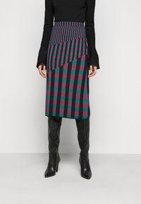 Diane von Furstenberg - SKIRT - Pencil skirt - grape/purple/green - 0