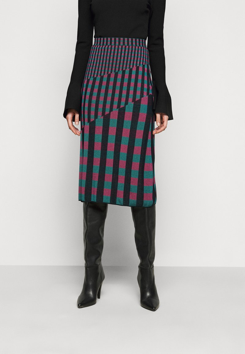 Diane von Furstenberg - SKIRT - Pencil skirt - grape/purple/green