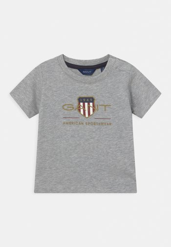 ARCHIVE SHIELD - Print T-shirt - light grey melange