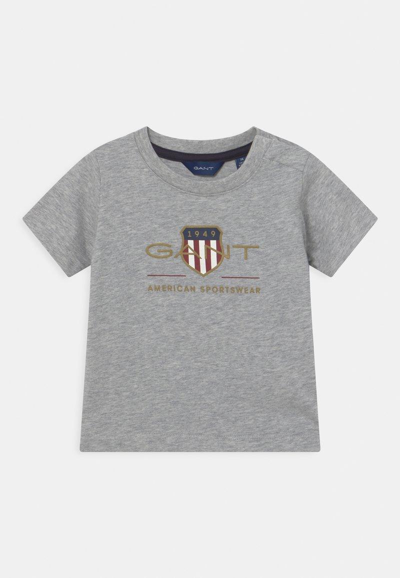 GANT - ARCHIVE SHIELD - Print T-shirt - light grey melange