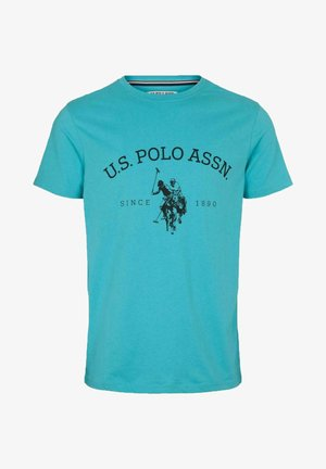 Print T-shirt - scuba blue
