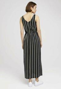 TOM TAILOR DENIM - Maxi dress - black beige vertical stripe - 2