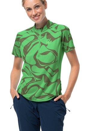 Print T-shirt - summer green all over