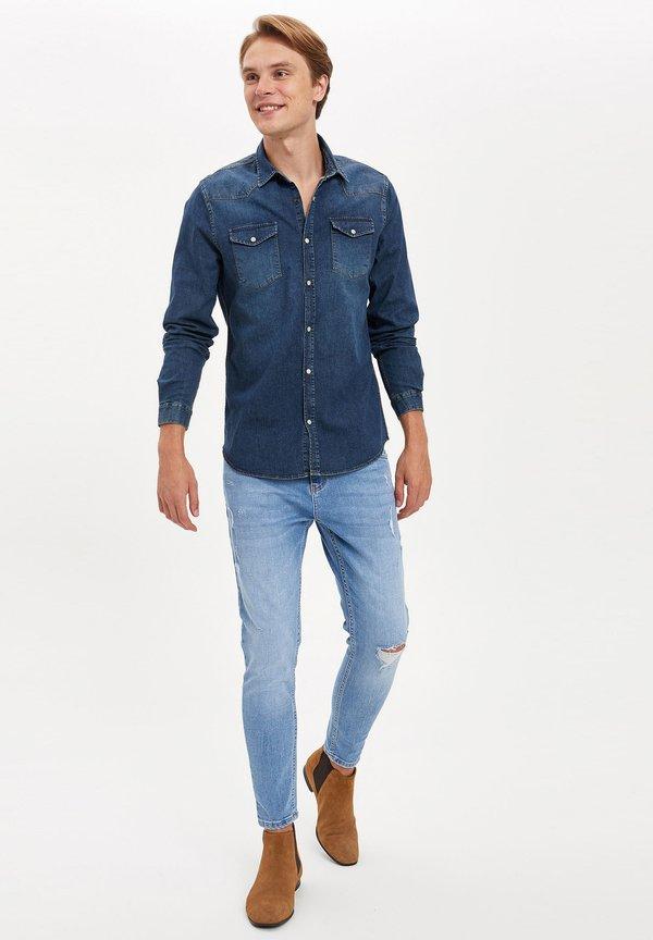 DeFacto Koszula - blue/niebieski Odzież Męska YHZE