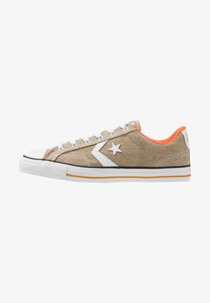 STAR PLAYER - Sneakersy niskie - khaki/white/bold mandarin