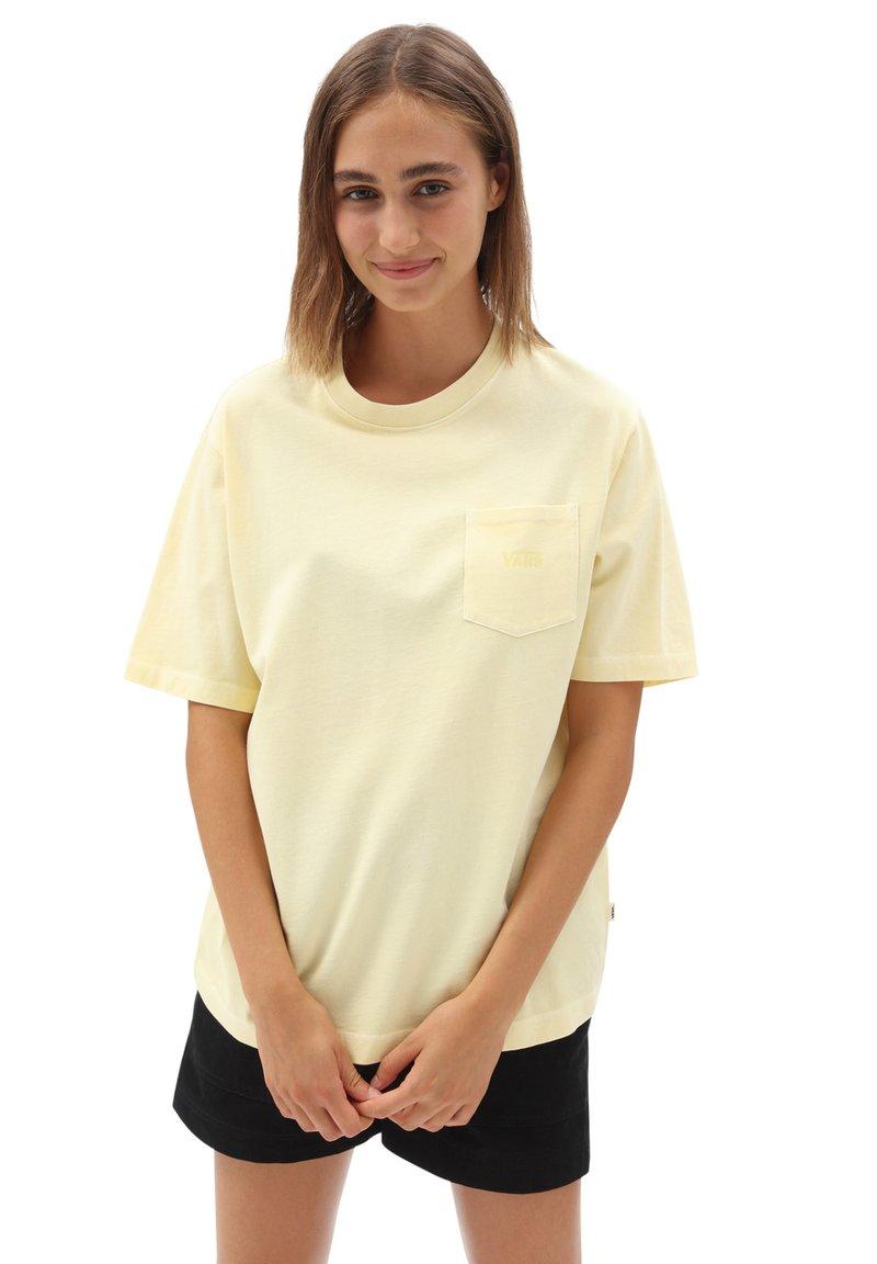 Vans - WM POCKET V - Basic T-shirt - mellow yellow