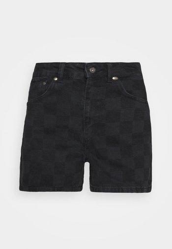 RAVE - Denim shorts - charcoal