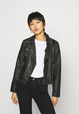 TILLY - Leather jacket - black
