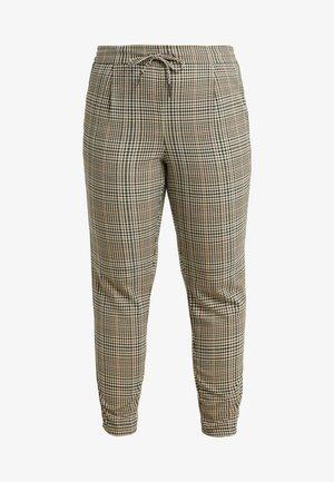 VMEVA LOOSE STRING CHECK PANT - Trousers - tobacco brown/multi