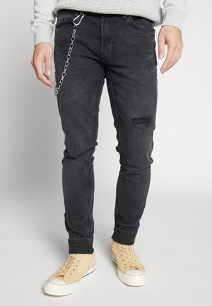 ONSWARP SKINNY BLACK CHAIN - Skinny džíny - black denim