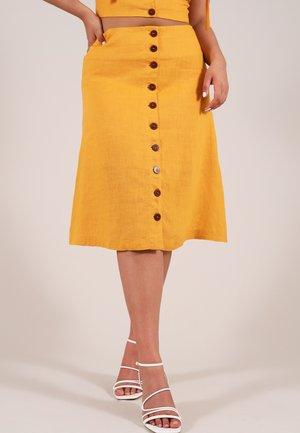 A-linjainen hame - yellow