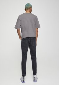 PULL&BEAR - Skinny džíny - mottled black - 2