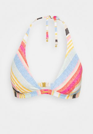 MARGA - Bikini top - yellow/red