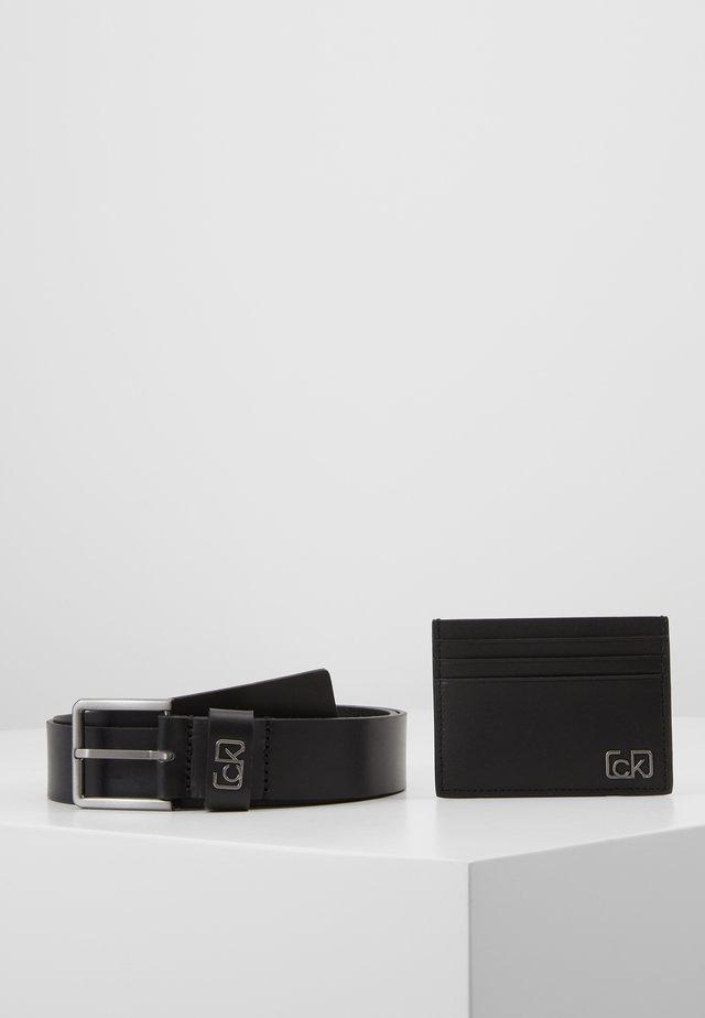 SIGNATURE BELT CARDHOLDER SET - Belt - black
