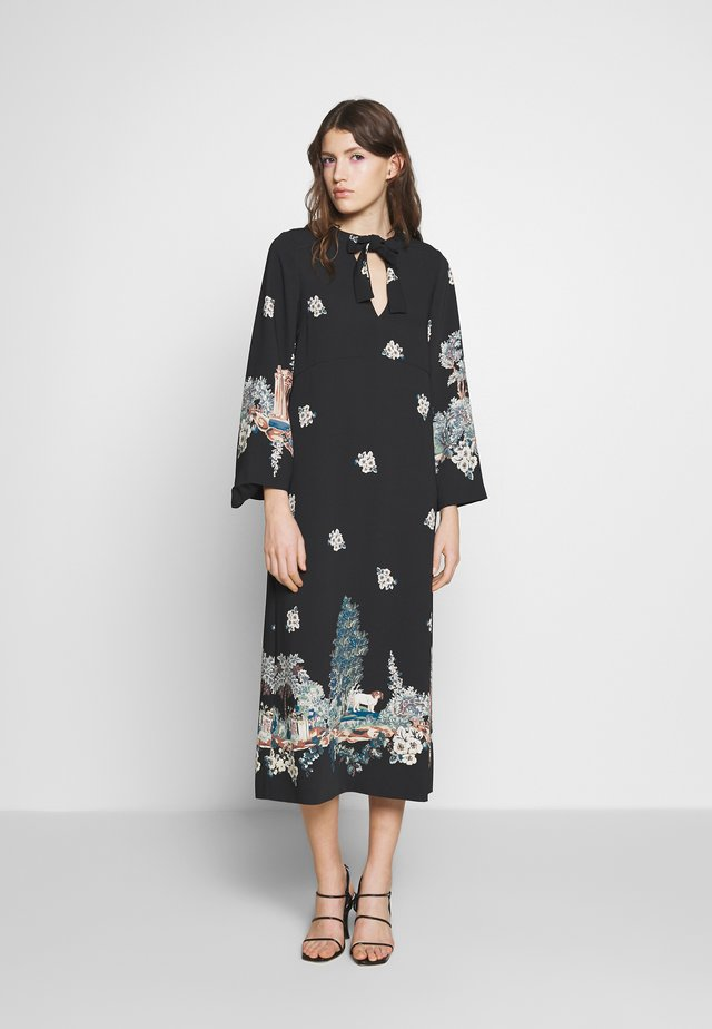 ABITO - Denní šaty - stampa fondo nero