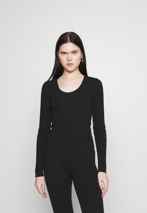 RECYCLED BUTTON ATTACHING WAISTPANEL - Maglione - black