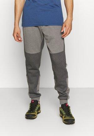 COLORBLOCK JOGGER - Pantalon de survêtement - city grey heather/shark heather/white