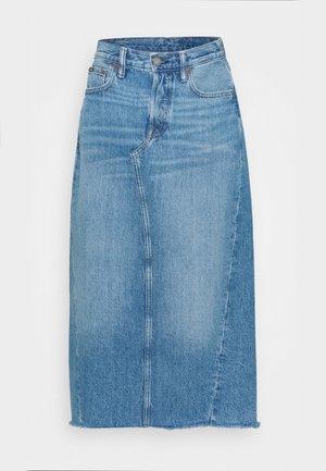 ANGIE  - Denim skirt - medium indigo
