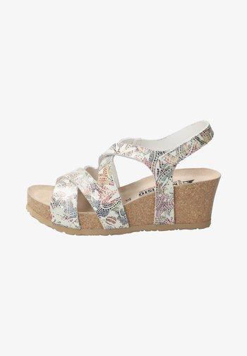 Platform sandals - multicoloured