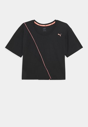 TRAIN PEARL TEE - T-shirt sportiva - black