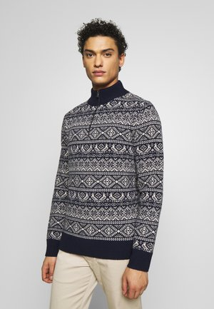 SHARED FAIRISLE - Jumper - navy