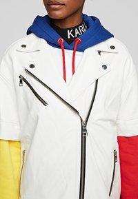 KARL LAGERFELD - Leather jacket - white - 4