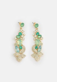 Pieces - PCSMILLA EARRING - Øredobber - gold-coloured/green - 0