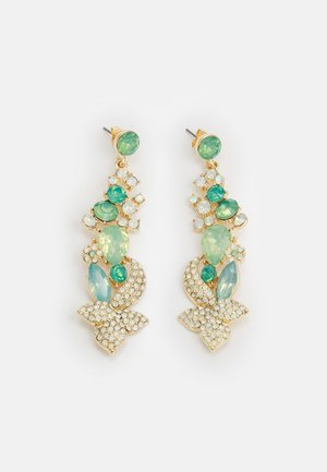 PCSMILLA EARRING - Øreringe - gold-coloured/green