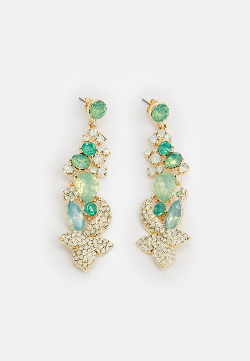 Pieces - PCSMILLA EARRING - Øredobber - gold-coloured/green