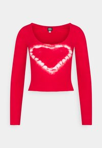 BDG Urban Outfitters - SCOOP HEART TIE DYE - Long sleeved top - red - 0