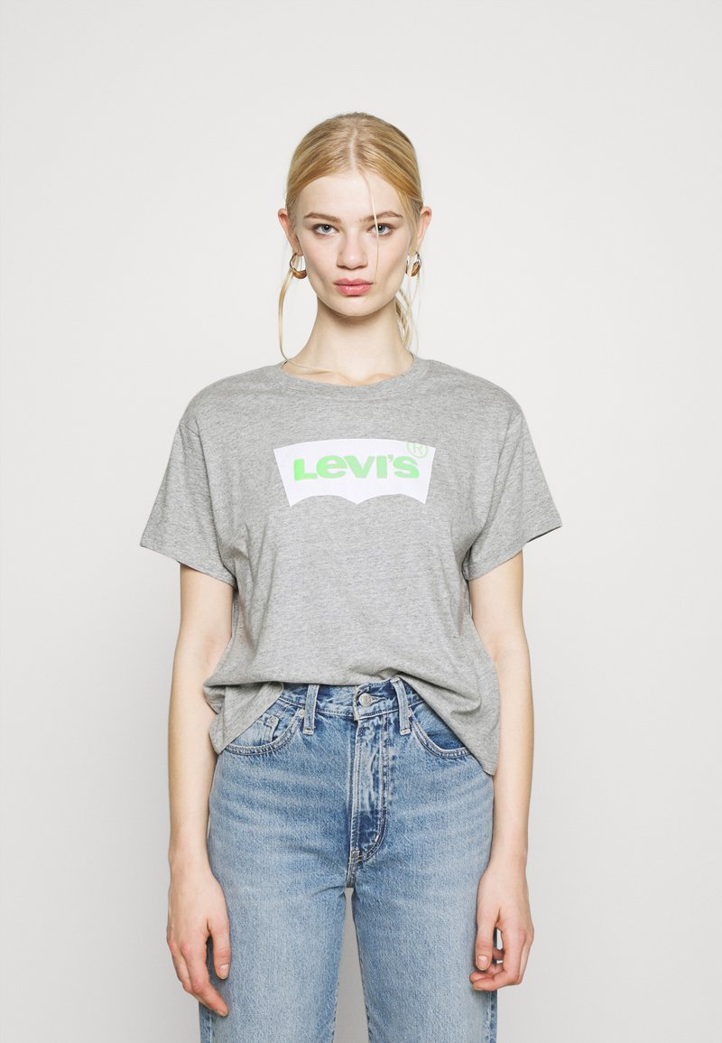 Levi's® - GRAPHIC VARSITY TEE - T-shirt imprimé - heather grey