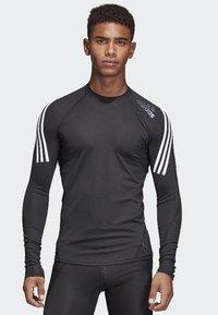 adidas Performance - Alphaskin Sport+ 3-Stripes TeALPHASKIN SPORT+ 3-STRIPES LONG-SLEEVE TOP - Sports shirt - black - 0