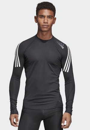 Alphaskin Sport+ 3-Stripes TeALPHASKIN SPORT+ 3-STRIPES LONG-SLEEVE TOP - Koszulka sportowa - black