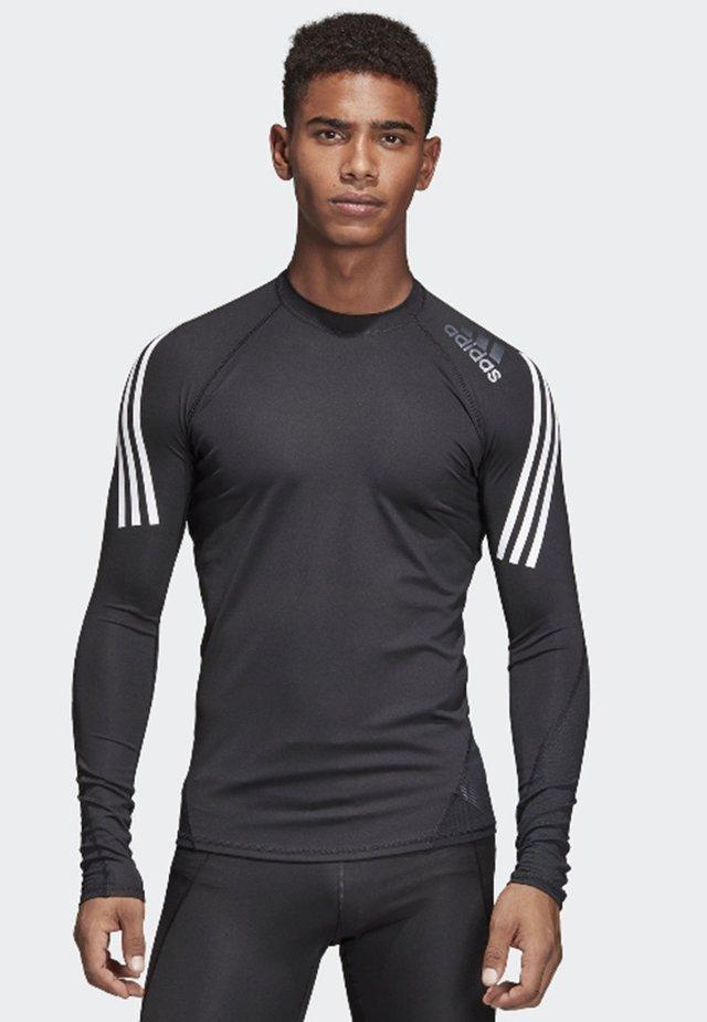 Alphaskin Sport+ 3-Stripes TeALPHASKIN SPORT+ 3-STRIPES LONG-SLEEVE TOP - Sports shirt - black