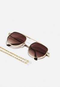 Pier One - WITH CHAIN SET UNISEX - Sunglasses - brown - 2